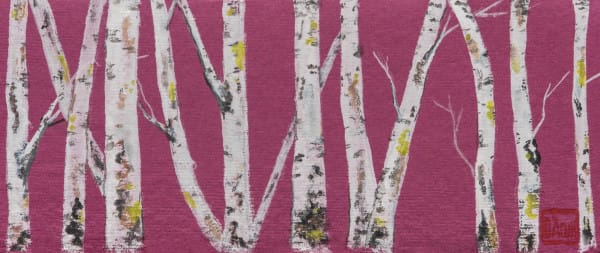 Birch On Magenta || Art | donnadacuti