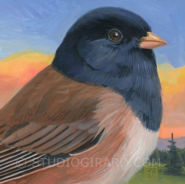Oregon Junco Bird Block | Studio Girard