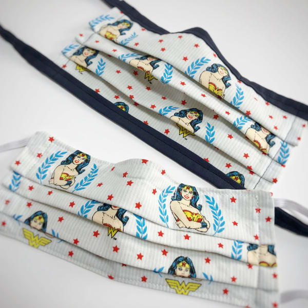 Cloth Mask: Wonder Woman Power (Elastic Or Ties) Art | Youngi-Sumistyle pets