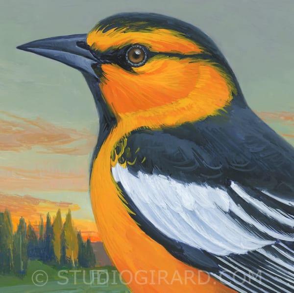 Bullock's Oriole Bird Block | Studio Girard