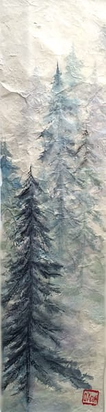 Blue Green Forest  Art | donnadacuti