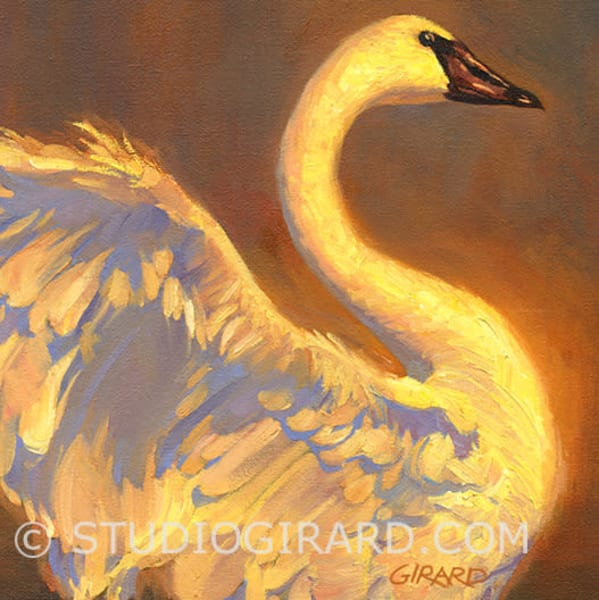 Golden Swan Bird Block | Studio Girard