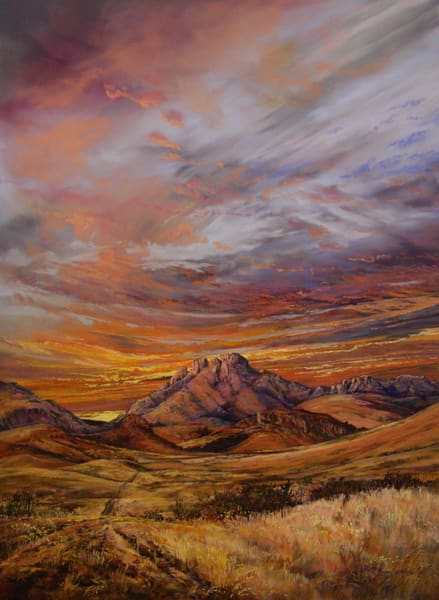 Lindy Cook Severns Art | Road to Sundown, large card
