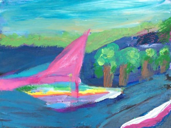 Rain Boat Art | Mary Kinzelberg Art