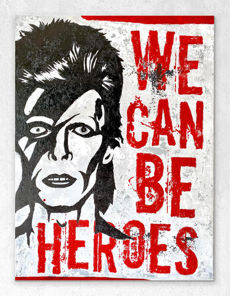 Bowie We Can Be Heroes Art | K. Randall Wilcox Fine Art