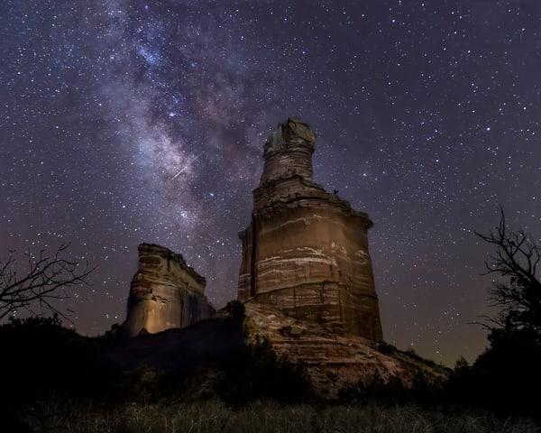 Milky Way And Lighthouse Photography Art | Jim Livingston Art