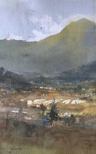 Original Artwork | Yellow Fields | Nishita Jain