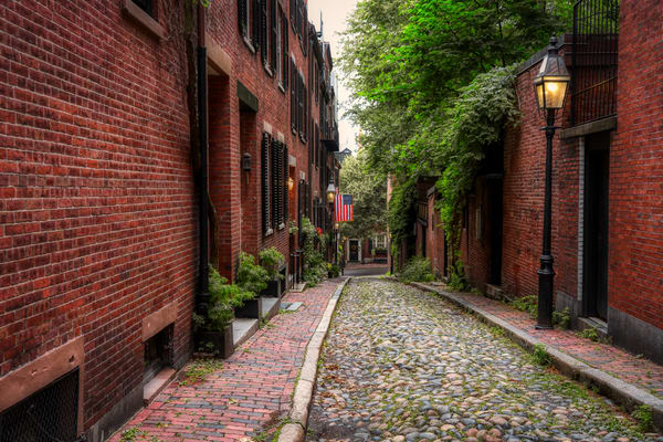 Acorn Street Photography Art | Paul J Godin Photography