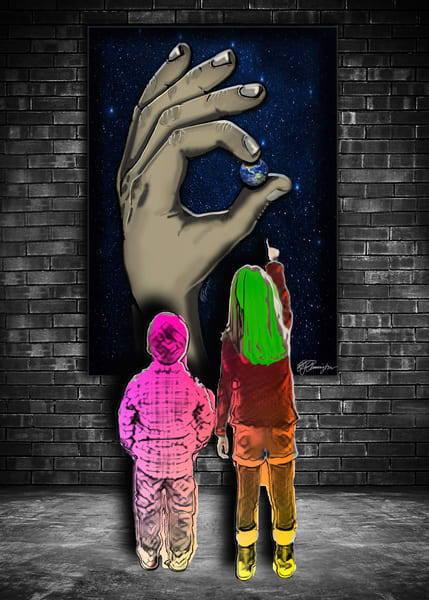 He's Got The Whole World In His Hands Art | Jamila Art Gallery