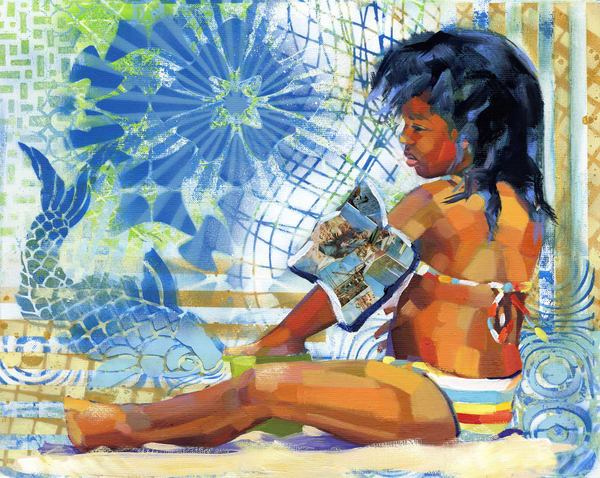 Fine Art Print: Caribbean Beach Scene Vi Art | Bianca Berends