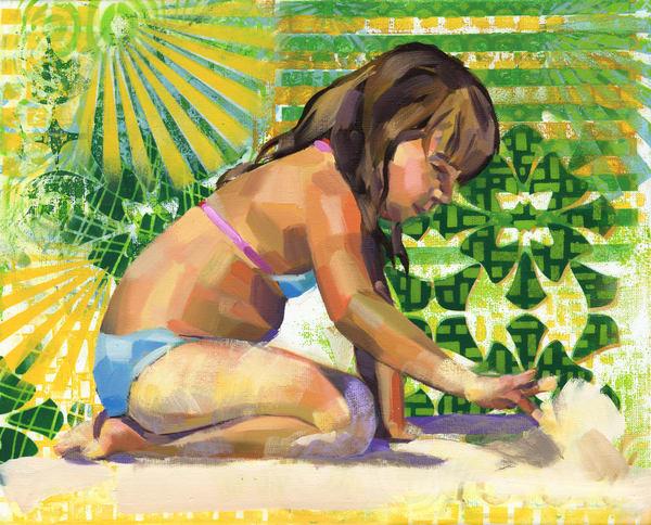 Fine Art Print: Caribbean Beach Scene V Art | Bianca Berends