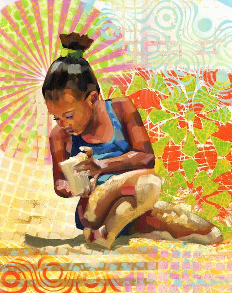 Fine Art Print: Caribbean Beach Scene Iv Art | Bianca Berends