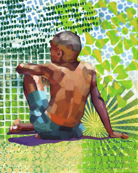 Caribbean Beach Scene I Art | Bianca Berends