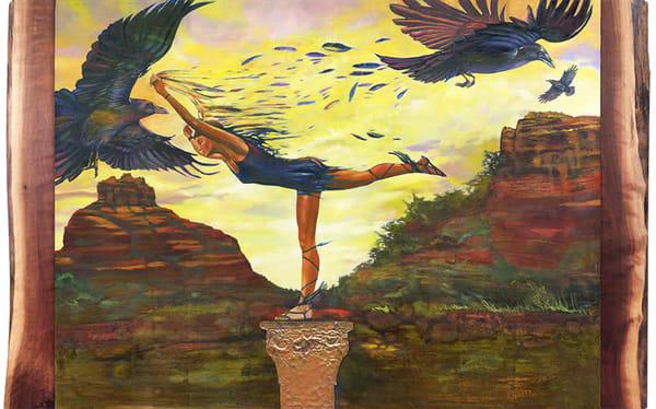 Hermes And Friends At Bell Rock Original Art Art | Big Vision Art + Design