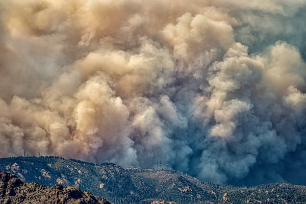 Bighorn Fire On Radio Ridge Photography Art | Carol Brooks Parker Fine Art Photography