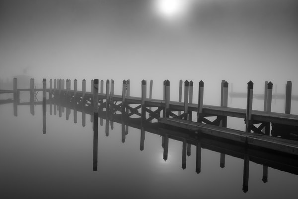 Essex Dock in Winter Fog