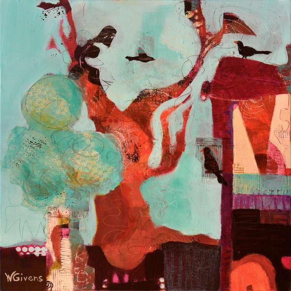 Bird House Art | Wendy Givens Art