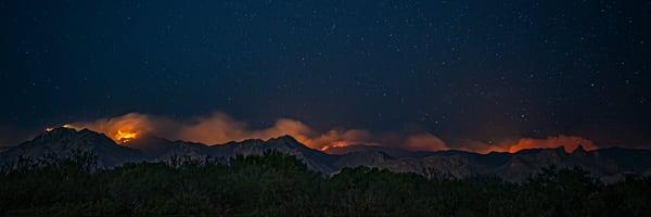 Bighorn Fire Panorama Photography Art | Carol Brooks Parker Fine Art Photography