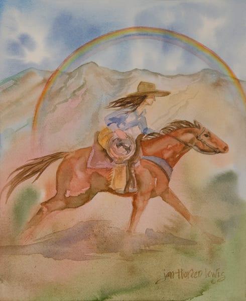 Cowgirl Power Art | Jan Thoreen Lewis Fine Art