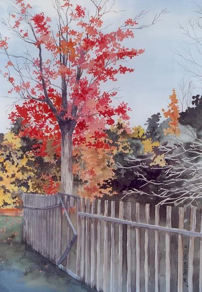Colonial Fence Art | Jan Thoreen Lewis Fine Art