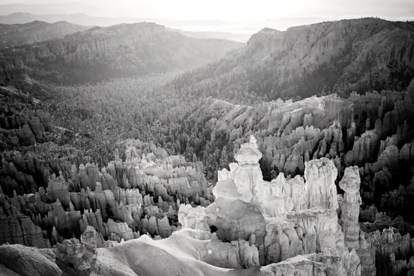 Bryce Canyon In Black & White Photography Art | POLAROIDS AND A POSTCARD