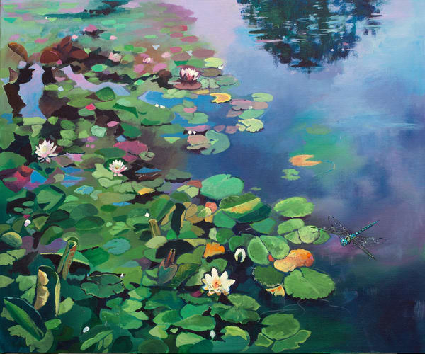 Waterlilies Nature Art Print / Denise Di Battista