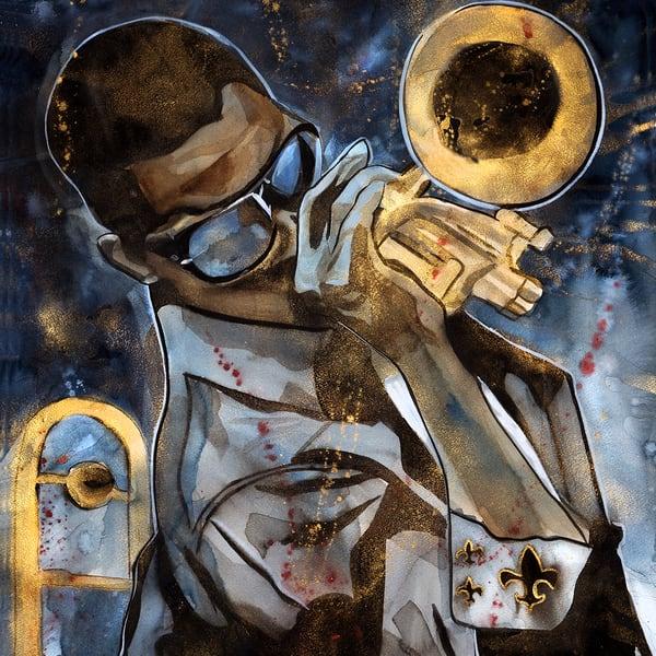 Trombone Shorty Coaster Art | William K. Stidham - heART Art