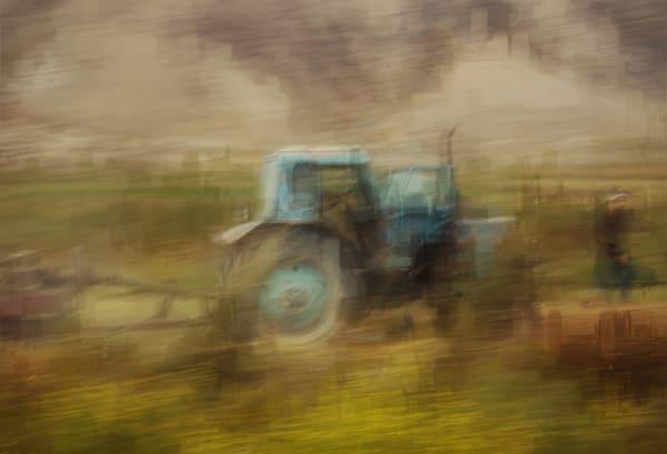 The Turquoise Tractor Art | Danny Johananoff
