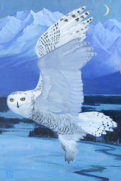 Snowy Owl Bird Block | Studio Girard