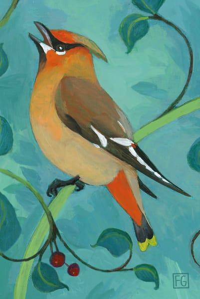 Bohemian Waxing Bird Block | Studio Girard