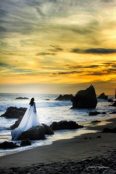 mermaid wedding sunset magical beach