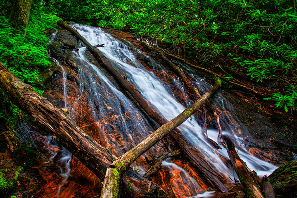 Rufus Morgan Lower Waterfall - Nantahala Mountains fine-art photography prints