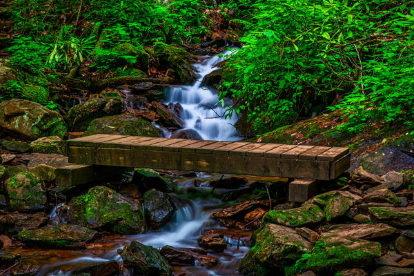 Bridge Over Rough Fork - Nantahala Mountains fine-art photography prints