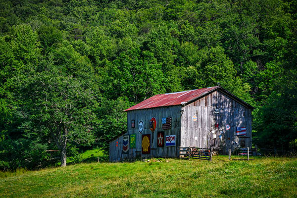 Old Signs On A Nantahala Barn Photography Art | Andy Crawford Photography - Fine-art photography
