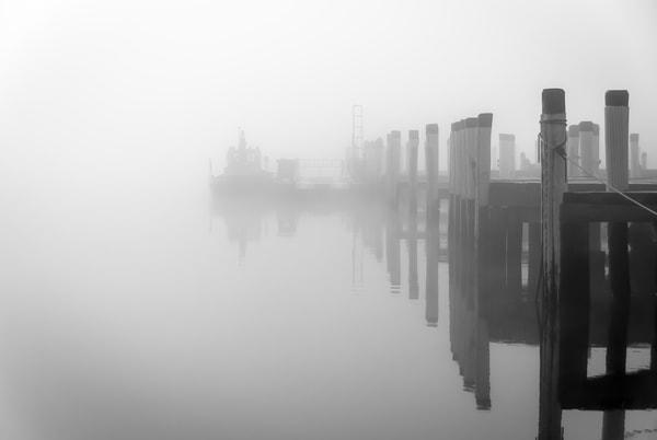 Pilot Boat In Fog