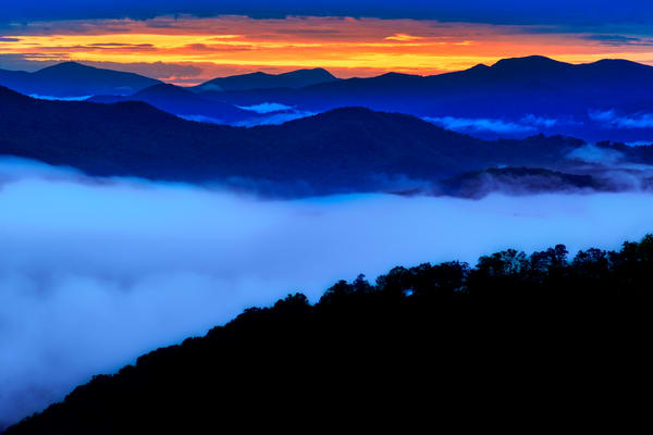 Blue Ridge Sunrise Photography Art | Andy Crawford Photography - Fine-art photography