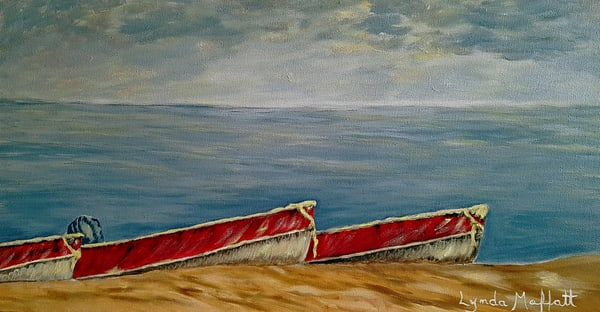 Boats Are Ready! Art | Lynda Moffatt Fine Arts