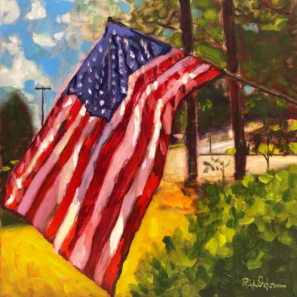 Old Glory Usa Flag Art | Rick Osborn Art