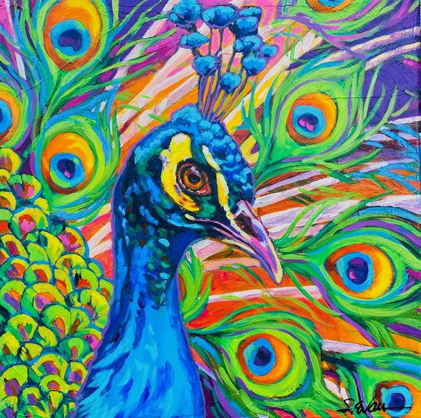 Blue Beauty Art | Sally C. Evans Fine Art