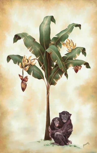 Monkeys And Bananas   Original Art | Mercedes Fine Art