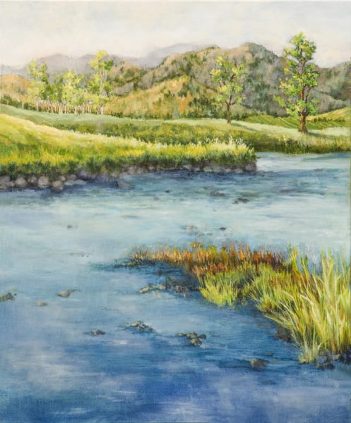 Cleanse, a painting of the Gallatin River