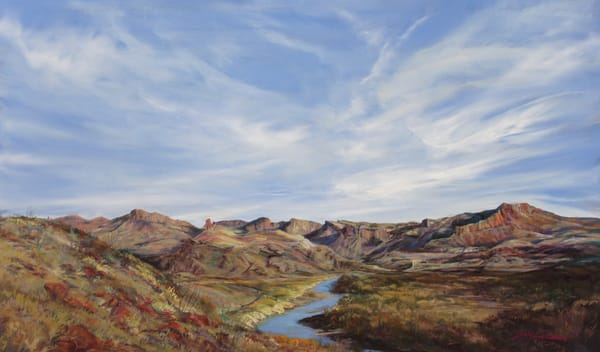 Lindy Cook Severns Art | Texas Sky Paints the Rio Grande, print