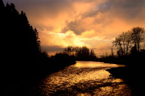 Wallowa River Sunrise Photography Art | Mary Edwards Photography