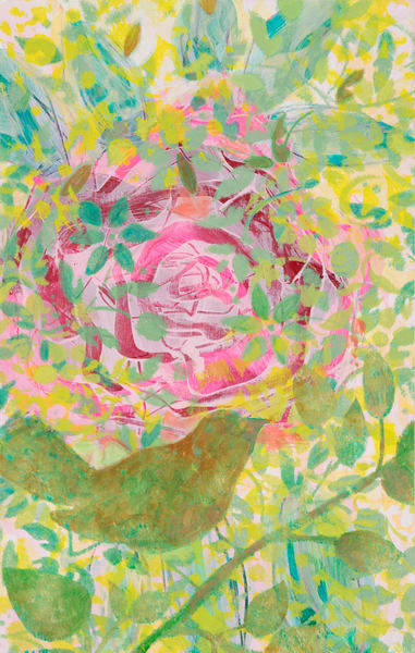 Pink Rose And Bird P Art | Debbie Dicker - Art