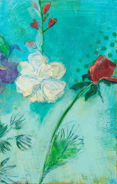 Rose And Daffodil P Art | Debbie Dicker - Art