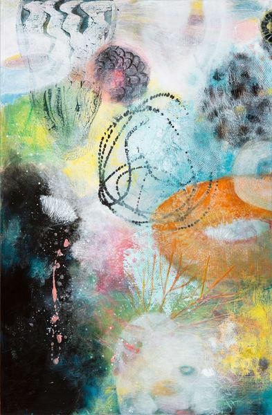 Swimming Through The Coral Reef P Art | Debbie Dicker - Art
