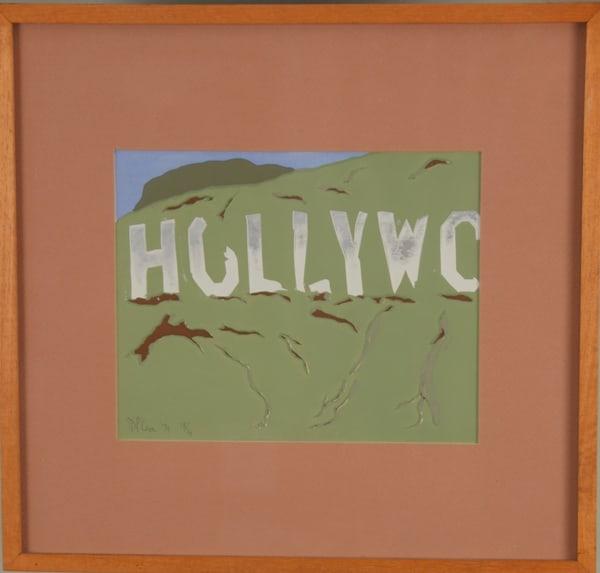 'hollywood Sign Abandoned' Art | Cera Arts