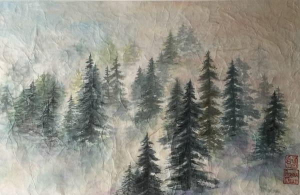 Foggy Morning Art   donnadacuti