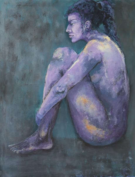 Purple Nude Art | Merita Jaha Fine Art