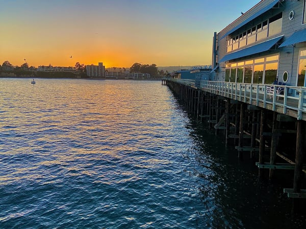 Sunset On The Pier Santa Cruz Art | Coat Of Many Colors